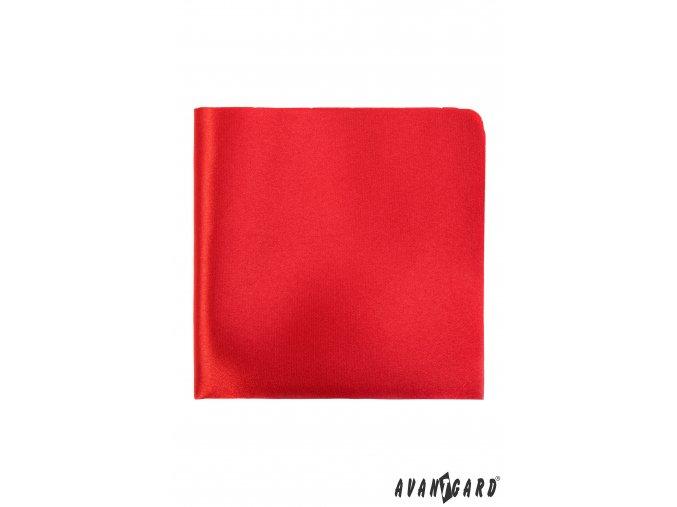 Červený kapesníček do saka bez vzoru