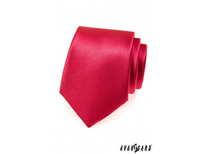 Sytě červená jednobarevná kravata