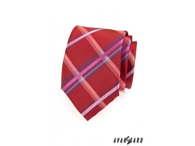 Kravata AVANTGARD 559-1305 Červená (Barva Červená, Velikost šířka 7 cm, Materiál 100% polyester)