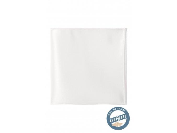 Bílý hedvábný kapesníček