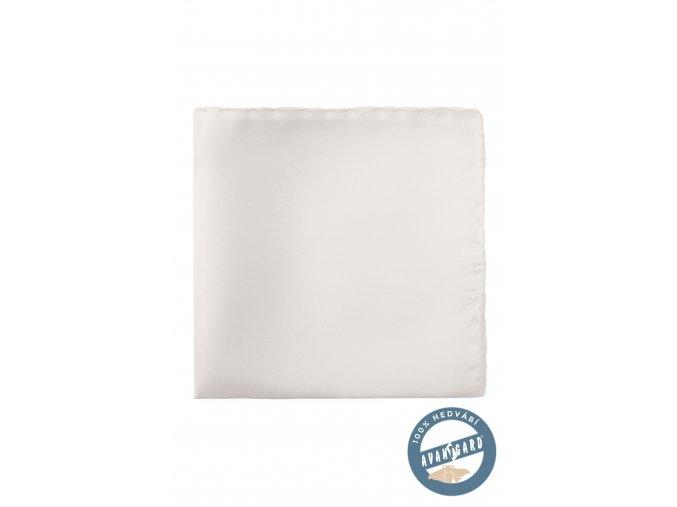 Bílý hedvábný kapesníček bez vzoru