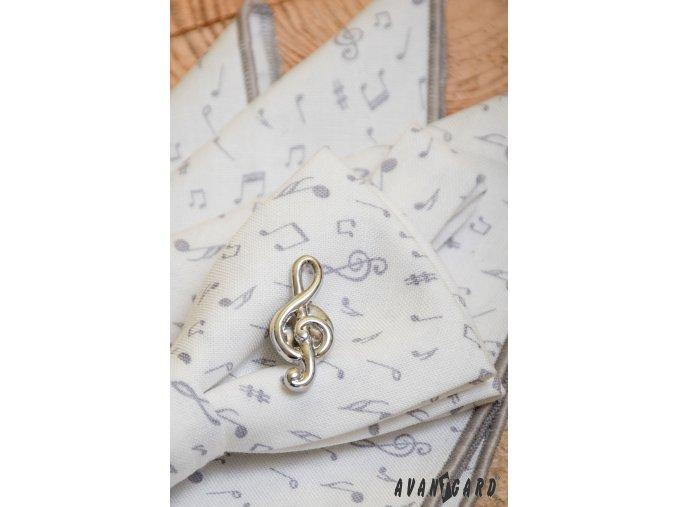 Špendlík do klopy - Houslový klíč