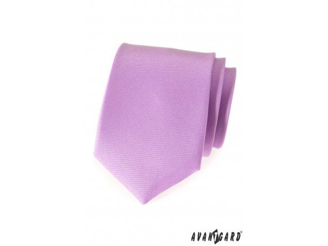 Matná světle fialová kravata