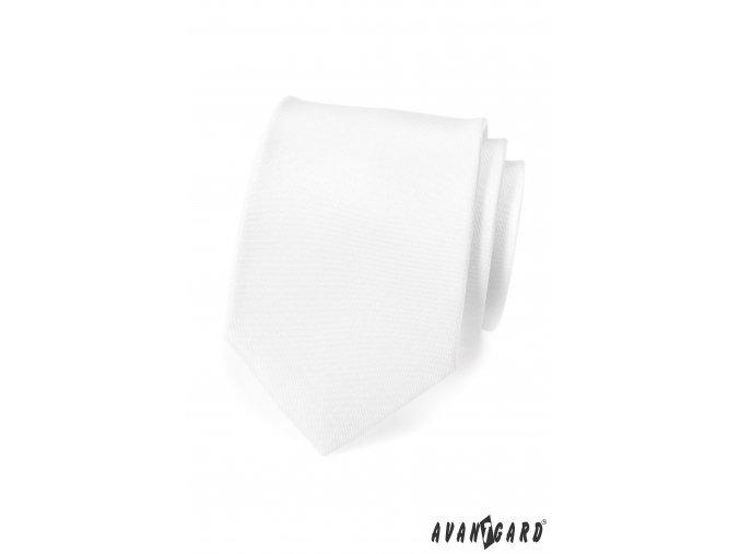 Matná bílá kravata