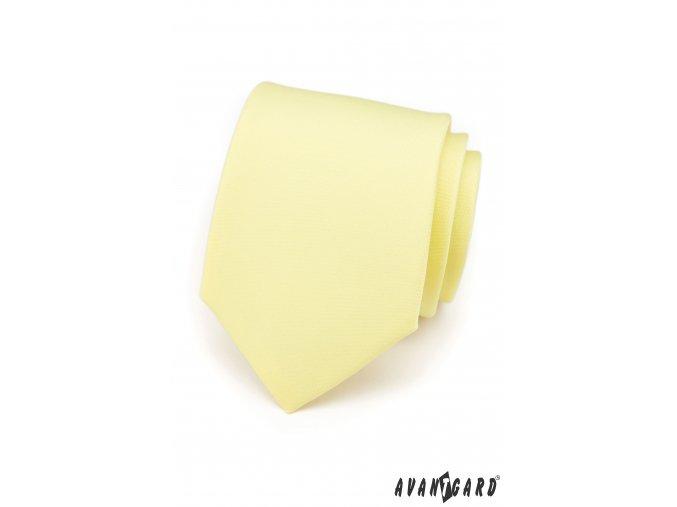 Velmi světle žlutá matná kravata