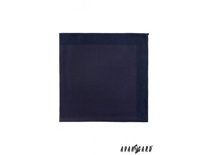 Tmavě modrý kapesníček s nenápadným drobným vzorem