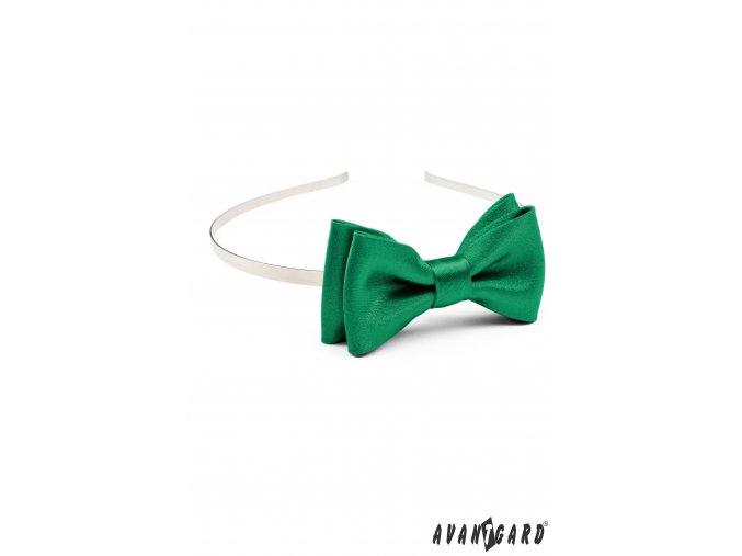 Smaragdově zelená čelenka s motýlkem