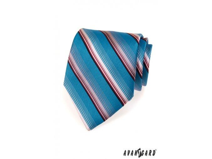Kravata AVANTGARD LUX 561-70204 Modrá (Barva Modrá, Velikost šířka 9 cm, Materiál 100% polyester)