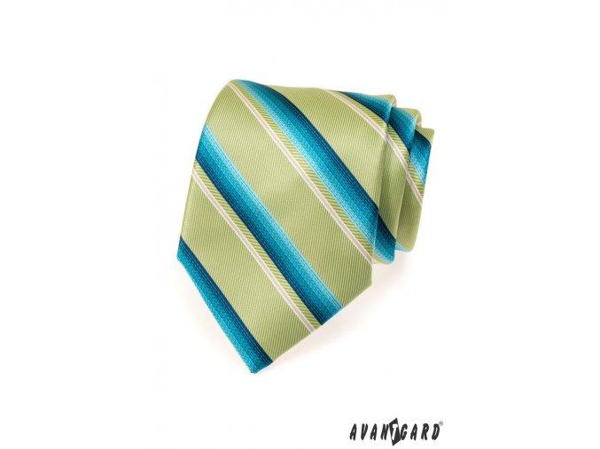 Kravata AVANTGARD LUX 561-71203 Zelená (Barva Zelená, Velikost šířka 9 cm, Materiál 100% polyester)