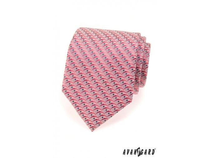 Kravata AVANTGARD LUX 561-80304 Růžová (Barva Růžová, Velikost šířka 9 cm, Materiál 100% polyester)