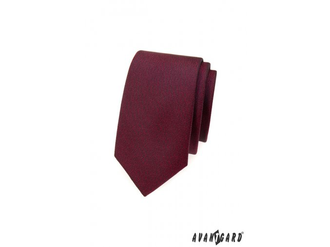 Bordó slim kravata