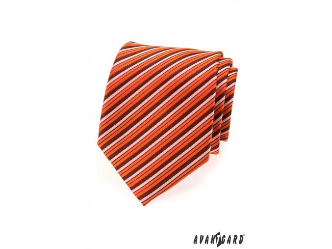 Kravata AVANTGARD LUX 561-080809 Oranžová (Barva Oranžová, Velikost šířka 9 cm, Materiál 100% polyester)