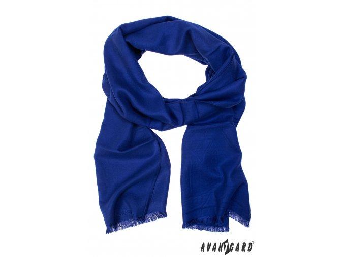 Zářivě modrá pánská šála