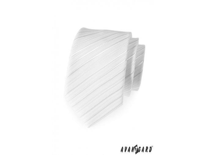 Kravata AVANTGARD LUX 561-9526 Bílá (Barva Bílá, Velikost 0, Materiál 100% polyester)