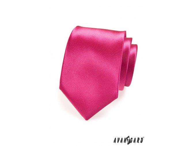 Fuchsiová luxusní jednobarevná kravata