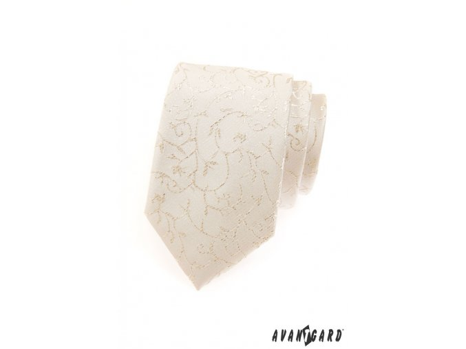 Kravata AVANTGARD LUX 561-9548 Smetanová (Barva Smetanová, Velikost šířka 7 cm, Materiál 100% polyester)