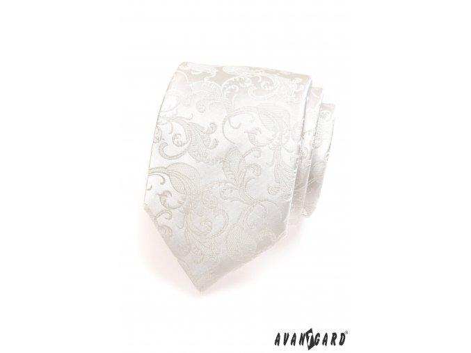 Kravata AVANTGARD LUX 561-18 18 - smetanová (Barva 18 - smetanová, Velikost šířka 7 cm, Materiál 100% polyester)