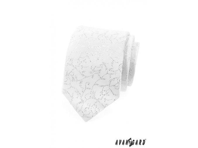 Kravata AVANTGARD LUX 561-9550 Bílá (Barva Bílá, Velikost šířka 8 cm, Materiál 100% polyester)