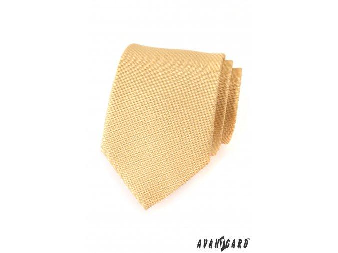 Světle žlutá jednobarevná kravata