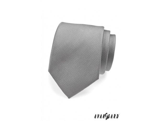 Šedá kravata s nenápadnými proužky