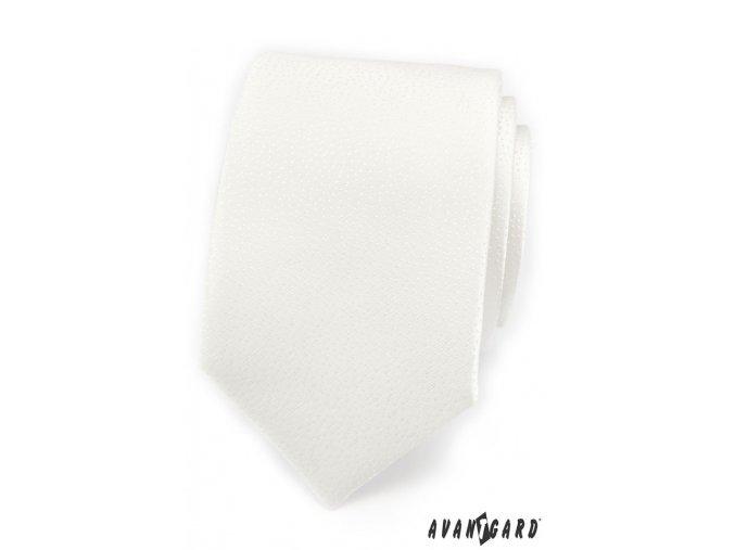 Kravata AVANTGARD LUX 561-9685 Bílá (Barva Bílá, Velikost šířka 7 cm, Materiál 100% polyester)
