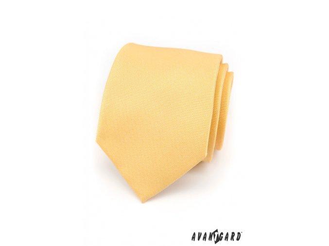 Žlutá kravata se vzorem