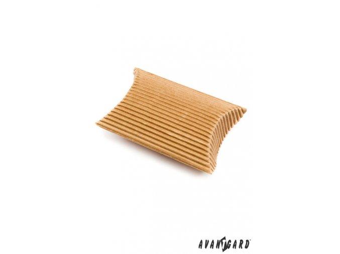 Modré manžetové uzlíky s tmavým detailem