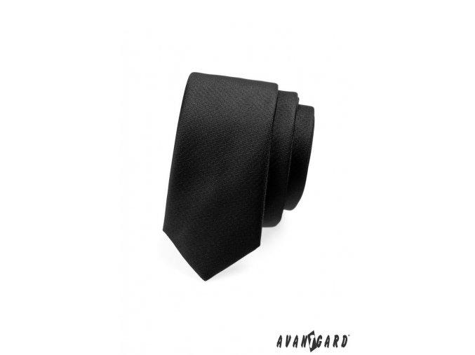 Kravata SLIM AVANTGARD LUX 571-14926 Černá (Barva Černá, Velikost šířka 5 cm, Materiál 100% polyester)