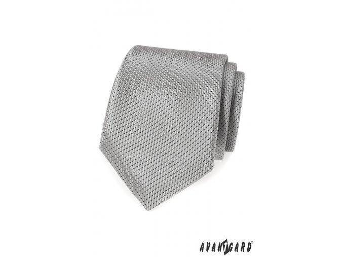 Stříbrná jemně lesklá kravata