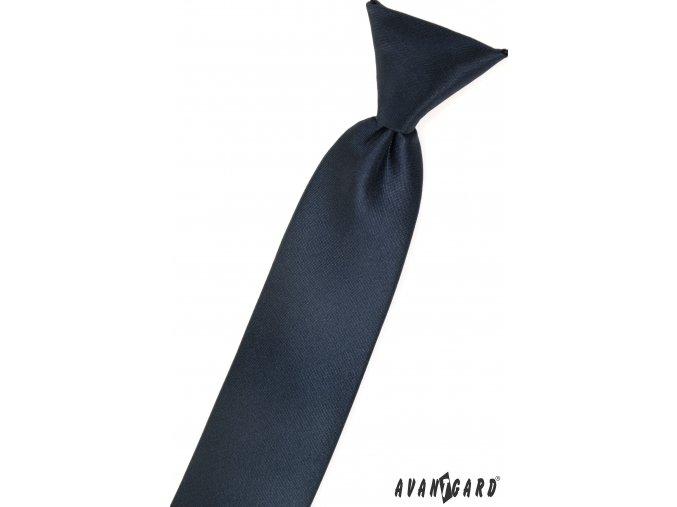 Velmi tmavě modrá matná dětská kravata