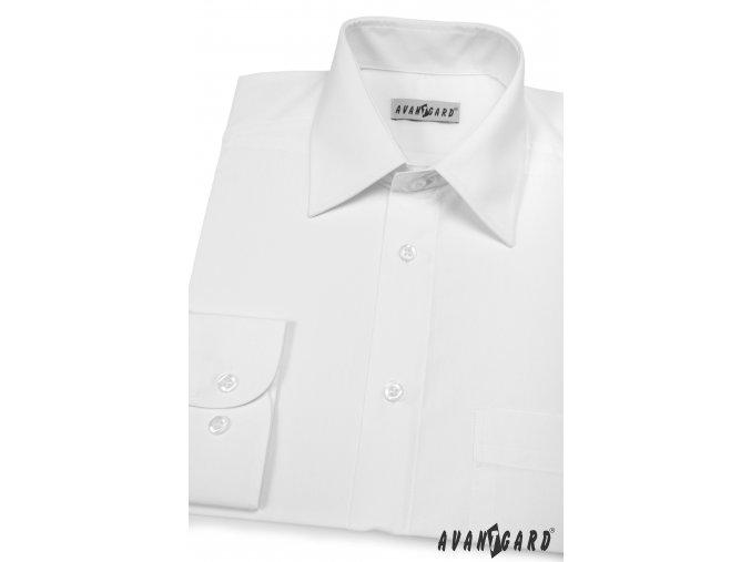 Pánská bílá košile KLASIK s dl.ruk. 451-1
