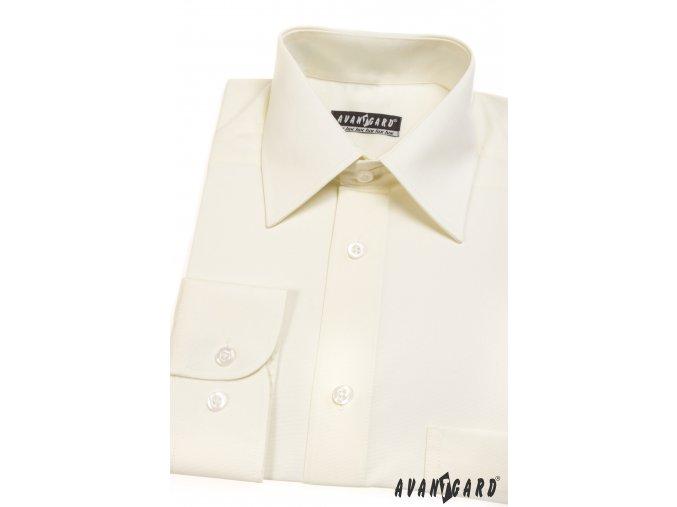 Pánská smetanová luxusní košile KLASIK dl.ruk 527-2
