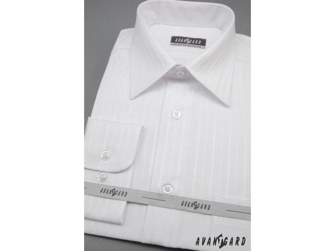 Pánská košile KLASIK dl.ruk 527-90001 Bílá (Barva Bílá, Velikost 38/182, Materiál 80% bavlna a 20% polyester)