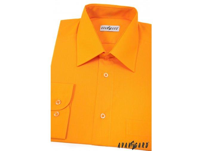 Pánská sytě oranžová košile KLASIK s dl.ruk. 451-42