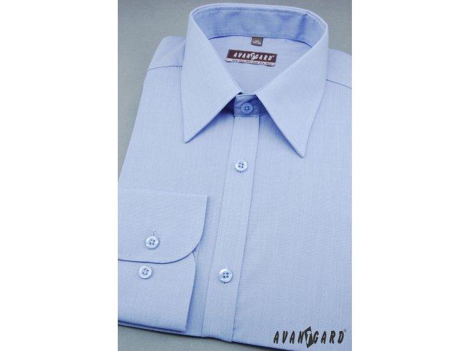 Pánská světle modrá košile KLASIK dl.ruk 527-299