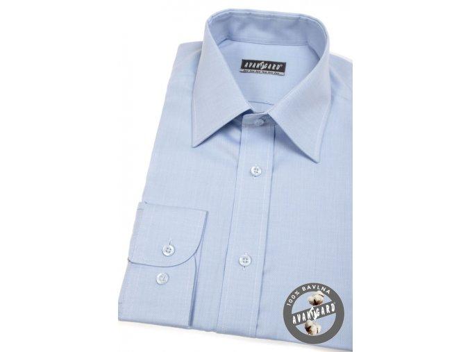 Pánská košile AVANTGARD LUX  528-157 Modrá (Barva Modrá, Velikost 41/42/194, Materiál 100% bavlna)