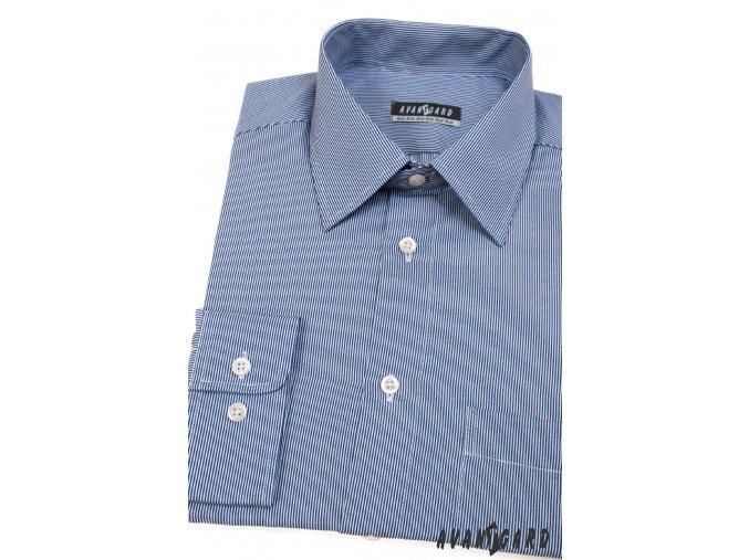 Pánská světle modrá košile s jemnými proužky dl. ruk. 511-3101