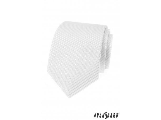 Bílá kravata s proužky