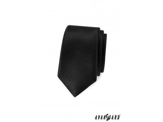 Černá jednobarevná slim kravata