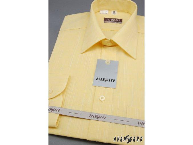 Pánská košile AVANTGARD LUX s dl. ruk. 564-4271 4271-žlutá (Barva 4271-žlutá, Velikost 41/194, Materiál 100% bavlna)