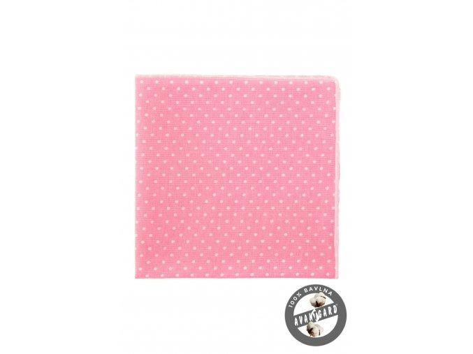 Růžový kapesníček s bílými puntíky