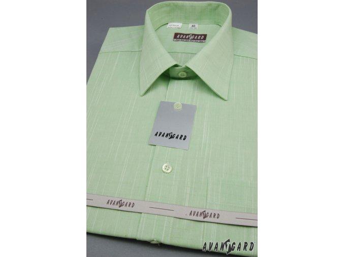Světle zelená pánská košile, kr. rukáv, 964-4272 4272