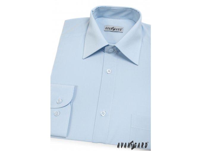 Pánská světle modrá košile KLASIK s dl.ruk. 451-15