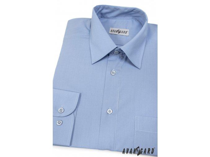 Pánská světle modrá košile KLASIK s dl.ruk. 451-16