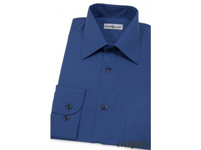 Pánská tmavě modrá košile KLASIK s dl.ruk. 451-18