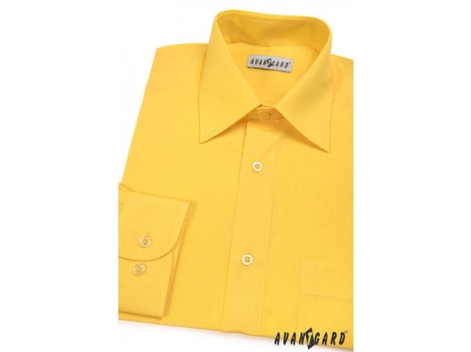 Pánská košile KLASIK s dl.ruk. 451-24 V24 žlutá (Barva V24 žlutá, Velikost 44/182, Materiál 55% bavlna a 45% polyester)