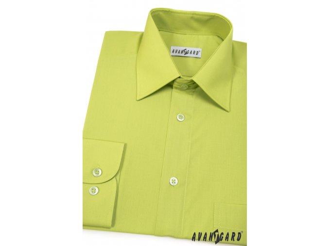 Pánská zelená košile KLASIK s dl.ruk. 451-30