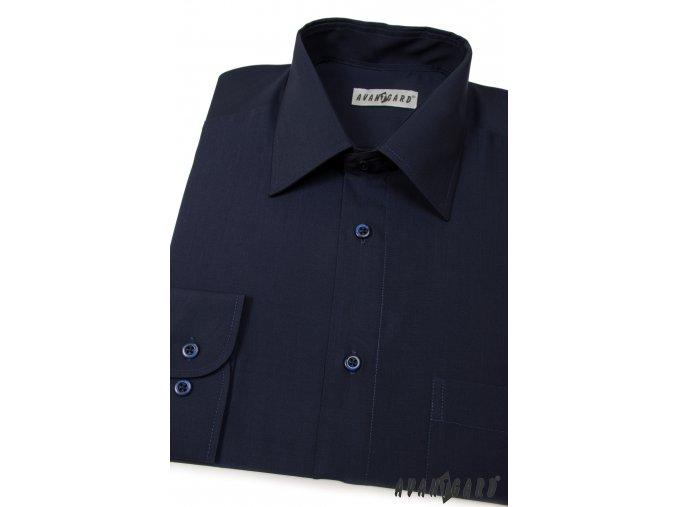 Pánská tmavě modrá košile KLASIK s dl.ruk. 451-31