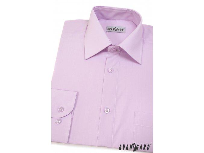 Pánská velmi světle fialová košile KLASIK s dl.ruk. 451-33