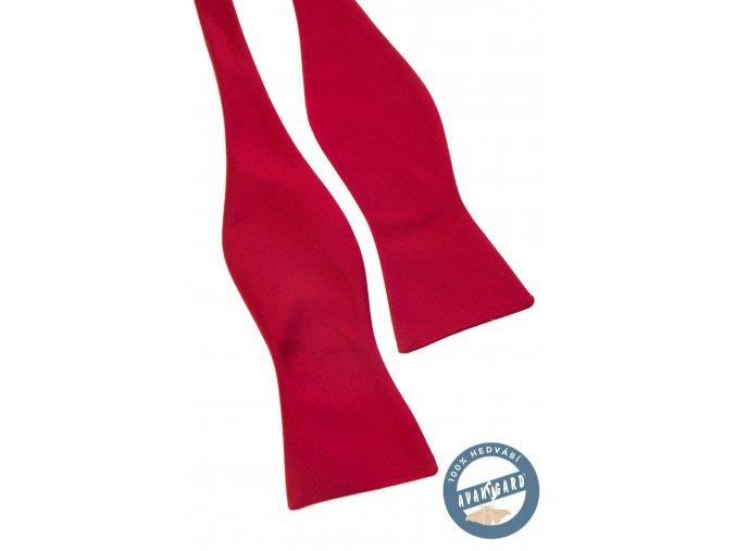 Červený hedvábný pánský vázací motýlek bez vzoru